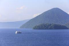 Toya湖Toyako在北海道,日本 免版税图库摄影