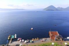 Toya Lake Toyako in Hokkaido, Japan Royalty-vrije Stock Foto's