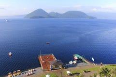 Toya Lake Toyako in Hokkaido, Japan Stockfotos