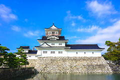Toyama castle with blue sky stock photos