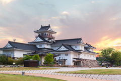 Toyama castle historic landmark in toyama japan with beautiful s royalty free stock image