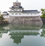 Toyama castle with reflection in water, castle historic landmark. In toyama city japan Royalty Free Stock Images