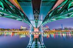 Toyama Japan bro arkivbilder