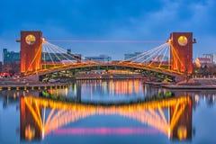 Toyama Japan Park and Bridge Royalty Free Stock Photos
