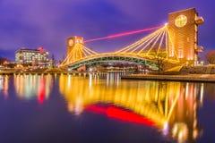 Toyama, Japan Park and Bridge Stock Images