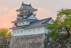 Toyama-Schlosshistorisches wahrzeichen in Toyama Japan mit schönem s Stockfoto