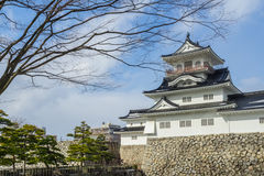 Toyama slott i den Toyama staden Arkivbild