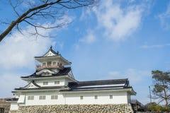 Toyama slott i den Toyama staden Royaltyfri Foto