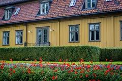 Toyen Manor House, Botanical Garden, Oslo, Norway stock photo