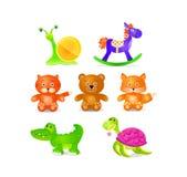 Toyes icon set Royalty Free Stock Photo