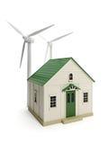 Toyhus och windmills Arkivfoto