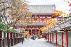 Toyko, Japan - 16 November 2016: Tourists walk on Nakamise Dori Royalty Free Stock Photos