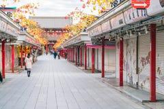 Toyko, Japan - 16 November 2016: Tourists walk on Nakamise Dori Stock Photo