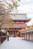 Toyko Japan - 16 November 2016: Turister går på Nakamise Dori Royaltyfria Bilder