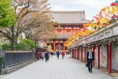 Toyko, Japan Tourists walk on Nakamise Dori Royalty Free Stock Photography
