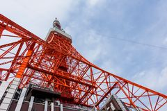 Toyko Tower with blue sky, Japan Royalty Free Stock Images