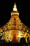 Toyko tower at night Stock Image