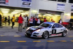 TOYO TIRES 24H of Dubai 2008. Dubai, UAE - JANUARY 12, 2008: The Porsche 997 GT3 from Hoptrans-Toverasport Team (finished 7th in class), in action at the TOYO Stock Images