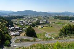Toyohashi równina blisko Shinsiro miasta zdjęcia royalty free