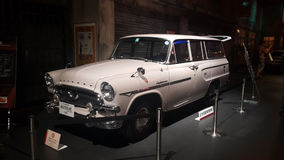 Toyopet masterline model RS26V white car 1961 in the museum , Toyota's small-sized vehicles were Stock Photography