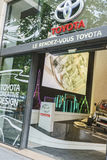 Toyota återförsäljare, Paris Royaltyfria Bilder