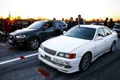 Toyota łowca Q3 i Audi zdjęcie royalty free
