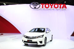 Toyota All New Corolla Altis Esport car on display Stock Photos