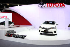 Toyota All New Corolla Altis Esport car on display Stock Photography