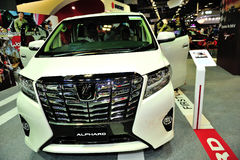 Toyota Alphard display during the Singapore Motorshow 2016 Royalty Free Stock Photography