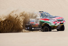 Toyota au rassemblement Dakar 2013 Photo stock