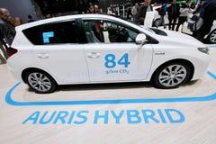 Toyota auris hybrydowy samochód Obrazy Stock