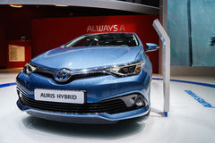 TOYOTA Auris, Motor Show Geneve 2015. Auris Nip n tuck - and new engines - for Toyotas Golf Stock Images