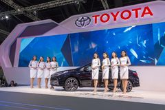 Toyota-auto bij de Internationale Motor Expo 2016 van Thailand Royalty-vrije Stock Foto's