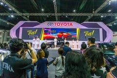 Toyota-auto bij de Internationale Motor Expo 2016 van Thailand Royalty-vrije Stock Afbeeldingen