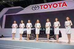 Toyota-auto bij de Internationale Motor Expo 2016 van Thailand Royalty-vrije Stock Fotografie