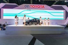 Toyota-auto bij de Internationale Motor Expo 2016 van Thailand Stock Foto
