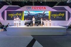Toyota-auto bij de Internationale Motor Expo 2016 van Thailand Stock Foto's