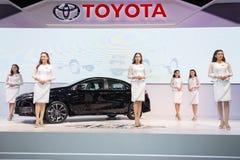 Toyota-auto bij de Internationale Motor Expo 2016 van Thailand Stock Fotografie