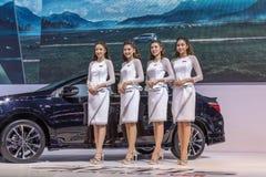 Toyota-auto bij de Internationale Motor Expo 2016 van Thailand Stock Afbeelding