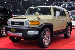 TOYOTA-Auto-Import durch BRG an der 30. internationalen Bewegungsausstellung Thailands am 3. Dezember 2013 in Bangkok, Thailand Lizenzfreies Stockfoto