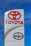 Toyota Automobile Dealership Sign Royalty Free Stock Images