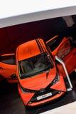 Toyota Aygo bij 2014 Genève Motorshow Stock Foto