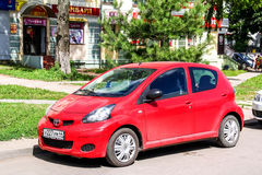 Toyota Aygo. KOSTROMA, RUSSIA - JULY 23, 2014: Motor car Toyota Aygo at the city street Stock Image