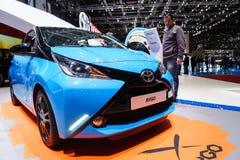 Toyota AYGO, Motorshow Geneve 2015 Royalty-vrije Stock Foto's