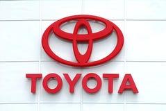 Toyota brennen Zeichen ein Stockfotografie