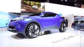 Toyota C-HR Hybrid crossover concept car stock footage