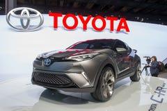 Toyota C-HR pojęcie - światowy premiera Zdjęcie Royalty Free