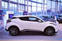 Toyota C-HR showroom zdjęcie stock