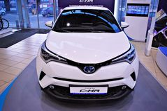 Toyota C-HR showroom fotografia royalty free