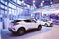 Toyota C-HR showroom obrazy stock